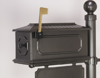 CMB4 - BMC Custom Cast Aluminum Mailbox #4. Available in a variety of colors.