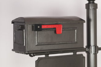 CMB5 - BMC Custom Cast Aluminum Mailbox #5. Available in a variety of colors.